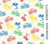 Pattern Monster Truck And Palm...