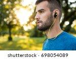closeup side view shot of a... | Shutterstock . vector #698054089