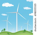 wind turbine vector | Shutterstock .eps vector #698055535
