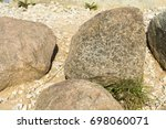 the texture of cobblestone on... | Shutterstock . vector #698060071
