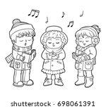 coloring book for children ... | Shutterstock .eps vector #698061391