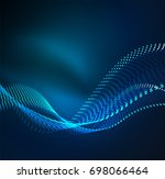 vector wave particles... | Shutterstock .eps vector #698066464