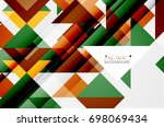 triangle pattern design... | Shutterstock . vector #698069434
