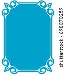frame border label page vector... | Shutterstock .eps vector #698070259