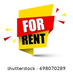 banner for rent | Shutterstock .eps vector #698070289