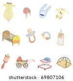 cartoon baby element icon   Shutterstock .eps vector #69807106