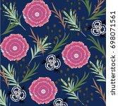 flower pattern | Shutterstock .eps vector #698071561