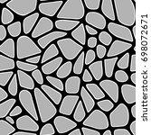 seamless organic vector pattern.... | Shutterstock .eps vector #698072671