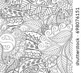 tracery seamless pattern.... | Shutterstock .eps vector #698076151
