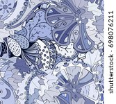 tracery seamless pattern.... | Shutterstock .eps vector #698076211