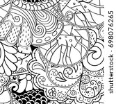 tracery seamless pattern.... | Shutterstock .eps vector #698076265