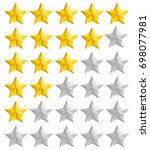 isolated rating full and half... | Shutterstock . vector #698077981
