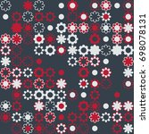 seamless floral pattern with... | Shutterstock .eps vector #698078131