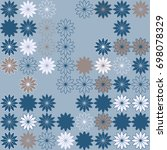 seamless floral pattern with... | Shutterstock .eps vector #698078329