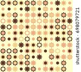 seamless floral pattern with... | Shutterstock .eps vector #698079721