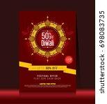 diwali festival offer poster... | Shutterstock .eps vector #698083735