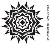 mandala black star vector | Shutterstock .eps vector #698084485