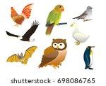 set of birds collection... | Shutterstock .eps vector #698086765