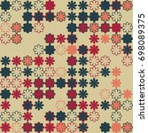 seamless floral pattern with... | Shutterstock .eps vector #698089375