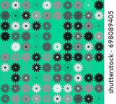 seamless floral pattern with... | Shutterstock .eps vector #698089405