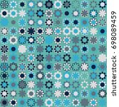 seamless floral pattern with... | Shutterstock .eps vector #698089459