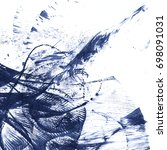 abstract ink blotch. scanned... | Shutterstock . vector #698091031
