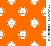 speedometer pattern repeat... | Shutterstock .eps vector #698093419