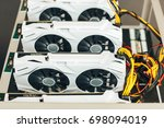 white video cards in the box... | Shutterstock . vector #698094019