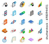 examination icons set.... | Shutterstock .eps vector #698094451