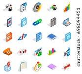 examination icons set.... | Shutterstock .eps vector #698094451
