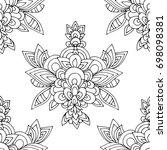 ethnic seamless pattern  black... | Shutterstock .eps vector #698098381
