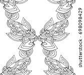 ethnic seamless pattern  black... | Shutterstock .eps vector #698098429