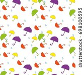 seamless pattern with cute... | Shutterstock .eps vector #698100595