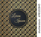 patterned gold vector... | Shutterstock .eps vector #698102845