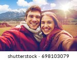 tourism  travel and people... | Shutterstock . vector #698103079