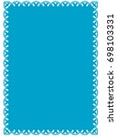 frame border label page vector... | Shutterstock .eps vector #698103331