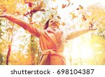 season and people concept  ... | Shutterstock . vector #698104387