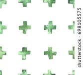 seamless watercolor pattern... | Shutterstock .eps vector #698105575