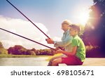 family  generation  summer... | Shutterstock . vector #698105671