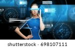 augmented reality  science ... | Shutterstock . vector #698107111