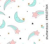 magic design seamless pattern... | Shutterstock .eps vector #698107564