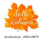 vector lifestyle lettering... | Shutterstock .eps vector #698119879