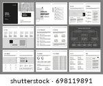 design annual report  cover ... | Shutterstock .eps vector #698119891