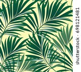 tropical palm leaves  jungle... | Shutterstock .eps vector #698121481