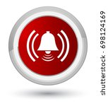 alarm icon isolated on prime... | Shutterstock . vector #698124169