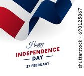 banner or poster of dominican... | Shutterstock .eps vector #698125867