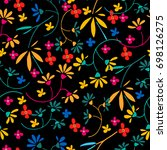 cute seamless floral pattern. ...   Shutterstock .eps vector #698126275
