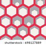 seamless geometric pattern.   Shutterstock .eps vector #698127889