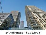 Skyscraper in London (Canary Wharf area) - stock photo