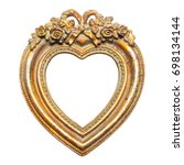 Old memories   gold heart shape ...